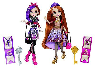 Ever After High Royal Rebel Sister's - Holly & Poppy O' Hair - Bnib-Rare
