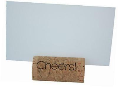 """""""cheers"""" real cork card holders, set of 25, includes cards"""