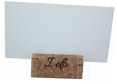 """""""i do"""" real cork card holders, set of 25, includes cards"""