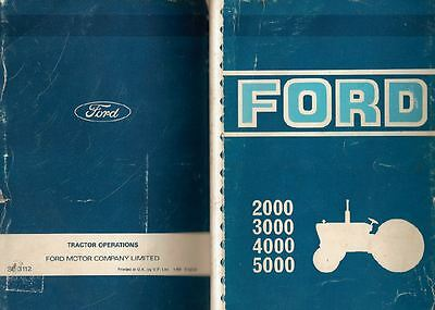 .Ford Tractor Manual Book:2000,3000,4000,Operations Service Engine Gearbox FF