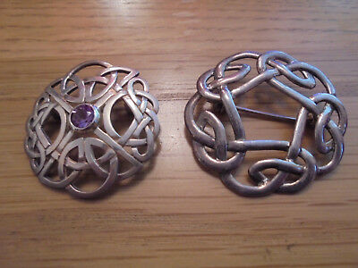 solid silver brooches