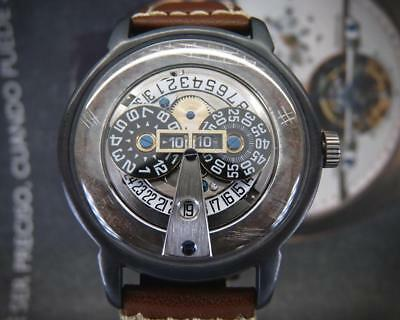 """Unique One of a kind F.Ronzon """"3D Jumping hour"""" Men's watch automatic movement"""