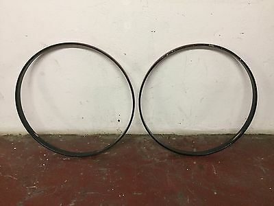 Premier Vintage 26 inch Bass Drum Hoops Red Wrap Inlay