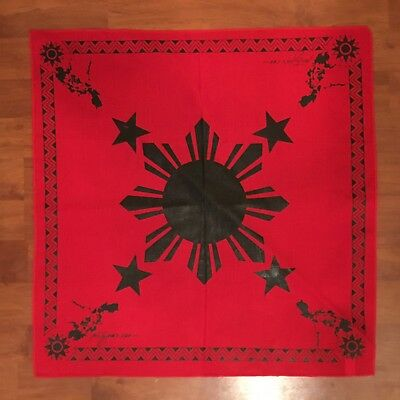 Philippines Filipino Flag Bandana Pinoy Pinay  Tribal 3 Stars And Sun New Red