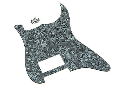 11Hole Strat One Humbucker Guitar Pickguard For Fender Delonge Black/White Shell