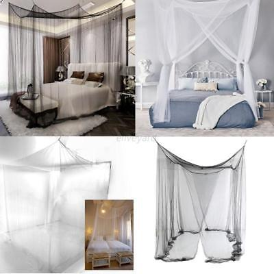 Retro Four Corner Canopy Bed Netting Mosquito Net Full Queen King Size Bedding & Elegant Four Corner Canopy Bed Netting Mosquito Net Full Queen ...