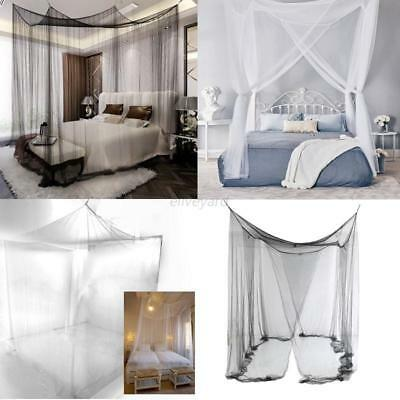 Retro Four Corner Canopy Bed Netting Mosquito Net Full Queen King Size Bedding : corner canopy bed - memphite.com