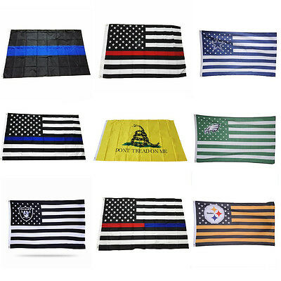 3*5 Feet USA Police Support Flag Memorial Law Enforcement Banners Party Decor