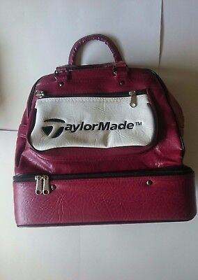 Taylormade vintage leather golf day shoe bag