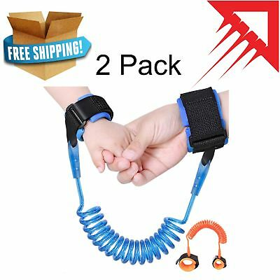2 Pack PAMBO Anti Lost Wrist Link Strap Leash For Toddlers & Kids Safety Harness