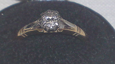 18 carat gold diamond vintage Victorian antique ring