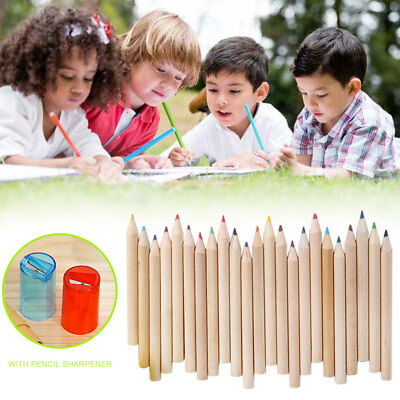 Watercolour Pencils Case Cover Set Sketching Sharpener Beige Stationery Gift