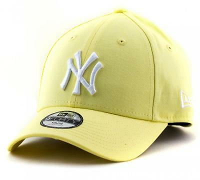 Youth New York Yankees New Era MLB Team 9Forty Hat Velcro Fitting Cap In Yellow