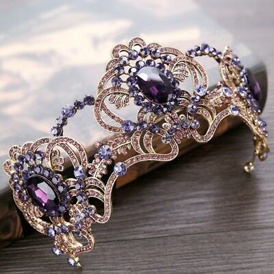 Vintage Bridal Wedding Rhinestone Queen Crown Headband Tiara Hair Accessories