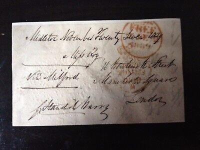 Free Front Dated 1839 - Midleton To London - Signed Standish Barry