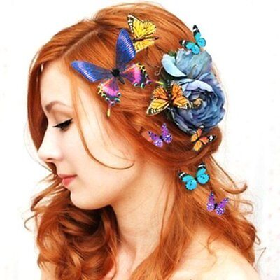 10 Pcs Butterfly Hair Clips Bridal Hair Accessories Wedding Photography Costume