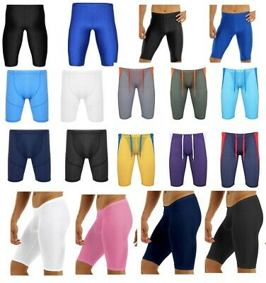 Men's Sports Tights Pants Underwear Stretchy Running Jogging Gym Workout Shorts