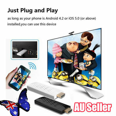 Wireless Wifi Phone Video to HDMI TV HDTV Receiver Display Dongle Adapter BK