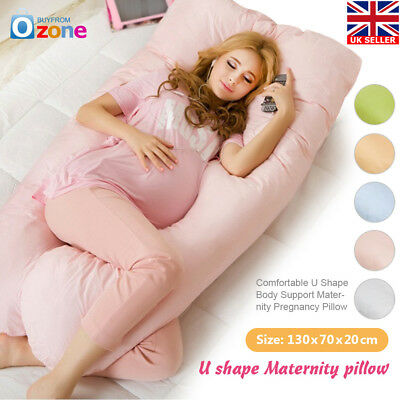 Comfort Total Body Full Support Pregnancy Maternity Pillow U Shape
