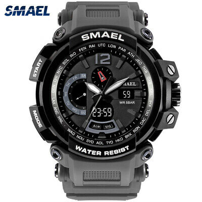 SMAEL Men Sport Watch Casual LED Digital Rubber Strap Electronic Wristwatch Gift
