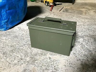 Scatola Cassetta Munizioni Militare NATO Metallo ORIGINALE Military Munition Box