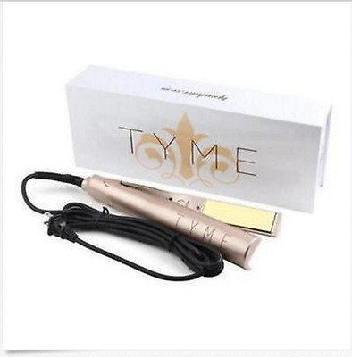 2017 NEW HOT IN BOX - TYME Gold Plated Titanium Hair Straightening Curling Iron