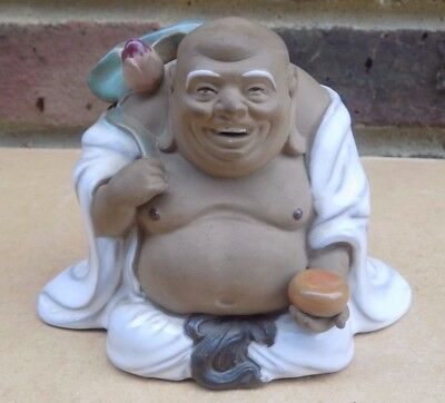 Chinese Mudman Figure - Happy Buddha