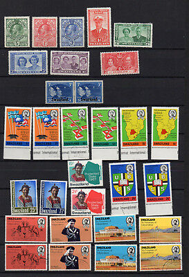 Swaziland   75 Different Mnh / Used Stamps - 10 Kgv / Kgvi