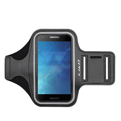 J&D Alcatel A30 (5 inch) Sport Armband with Keyholder Slot/Earphone Connection