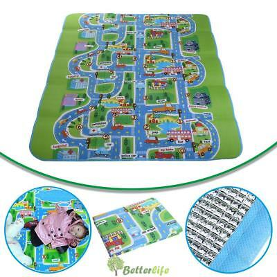 200 x 160cm Kids Crawling Pad Educational Game Baby Play Mat Soft Foam Carpet UK