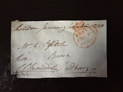 Free Front Dated 1836 - London To Sudbury - Signed Cavendish