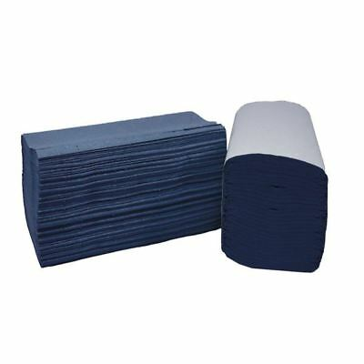 2Work Blue I-Fold 1-Ply Hand Towels 242x222mm (Pack of 3600) [2W70104]
