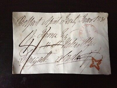 Free Front Dated 1831 - Belfast To London - Signed Donegall