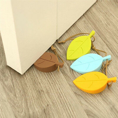 1PC Silicone Leaves Decor Design Door Stop Stopper Jammer Guard Baby Safety Home