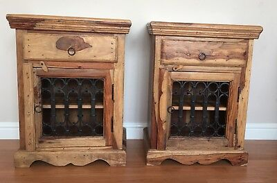 Pair Of Side Cabinets Indian Style