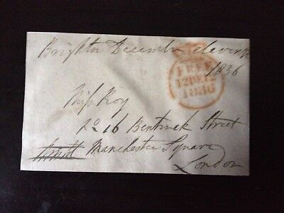 Free Front Dated 1836 - Brighton To London - Signed Bristol