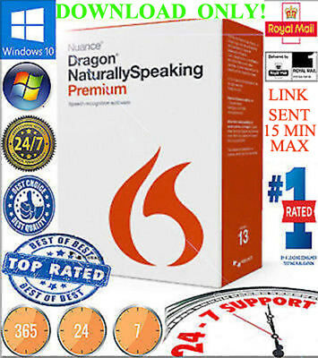 DIGITAL DELIVERY Nuance Dragon N.Speaking13 Premium-ENG OR FRENCH OR ITALIAN-