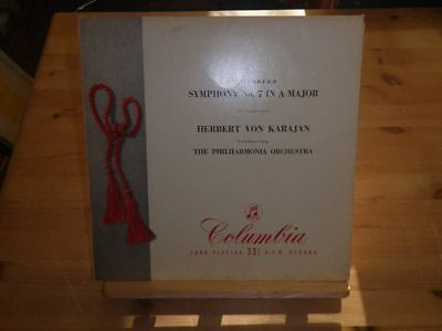 "HERBERT VON KARAJAN: Beethoven - Symphony No.7, COLUMBIA 1035, UK, 12""/LP"