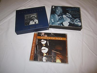 Jazz Bundle of Cds, Louis Armstrong, Cole Porter Collections and Voices of Jazz