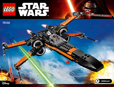 LEGO Star Wars 75102 Instruction Book Only No Lego Poe's X-wing Dameron BB-8 New