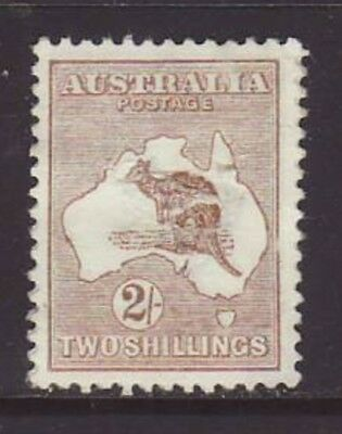 1913 2/- Brown Roo first wmk unused no gum but only space filler.