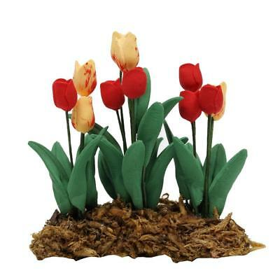 1 Pc Dollhouse Flower Tulip Miniatures Garden Home Décor Supply Handcrafted Hot