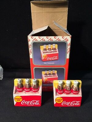 Coca Cola Co.  6 Pack Bottles. Salt And Pepper Shakers. Rare NEW IN BOX!!!
