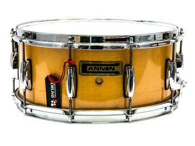 """Cannon 14"""" x 6.5"""" Snare Drum in Natural Lacquer"""