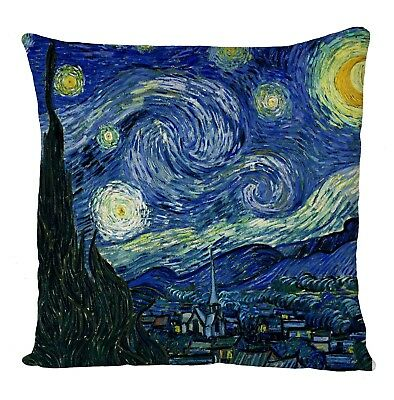 """Cool Van Gogh The Starry Night Art Ideal Gift Present Cushion Cover 16X16"""""""