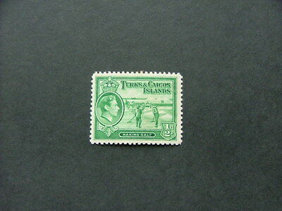 Turks & Caicos Islands KGVI 1938 1/2d yellowish green SG195 MM