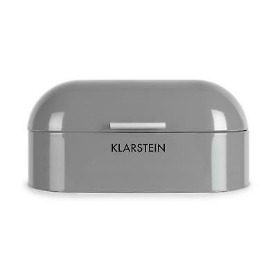 Klarstein Full Size Bread Bin Rounded Storage Container - Silver