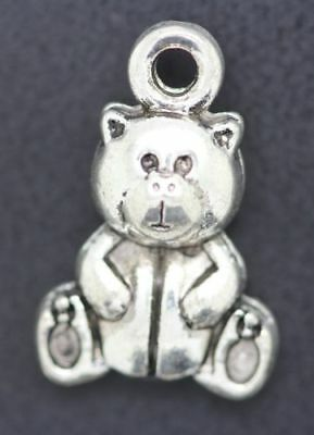 free shipping a lot of exquisite Adorable Little Grizzly Jewelry Charm Pendants