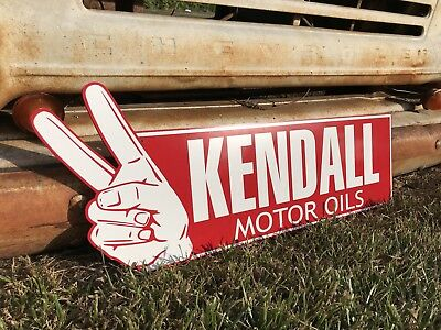 "Antique Vintage Old Style Kendall Motor Oil 29"" Sign **Blemish**"