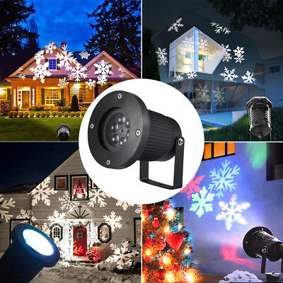 LED Snowflake Light Moving Laser Projector Landscape  Lamp Xmas Garden Decor UK